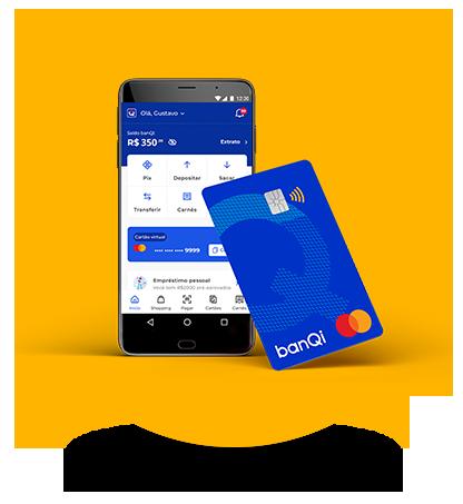 app banQi e Cartão pré-pago físico