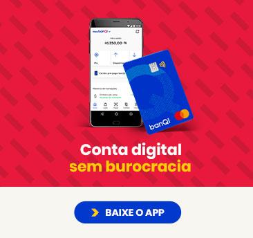 Conta digital gratuita banQi sem burocracia